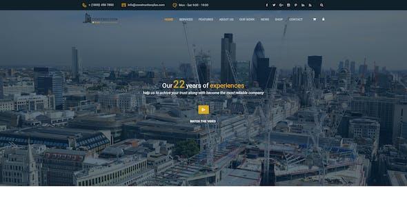 Construction Plus PSD Template