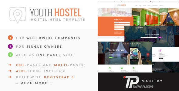 Youth Hostel - Travel & Hotel HTML Template - Travel Retail