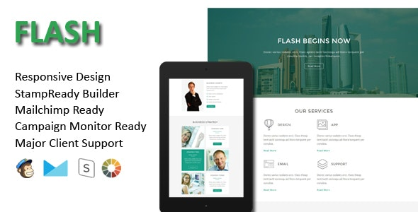 FLASH - Multipurpose Responsive Email Template - Email Templates Marketing