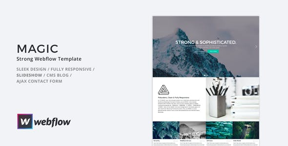 Download MAGIC - Strong Webflow Template