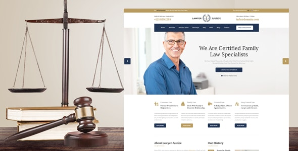 Lawyer & Justice - HTML Template - Business Corporate