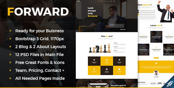 Forward - Business & Corporate PSD Template - Business Corporate