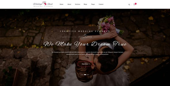 Wedding Reval - Planner & Agency PSD Template