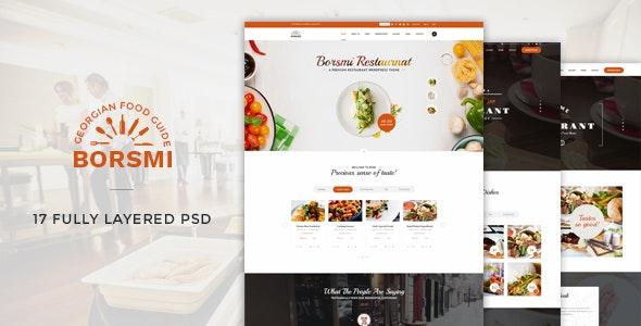 Borsmi - Restaurant PSD Template - Food Retail