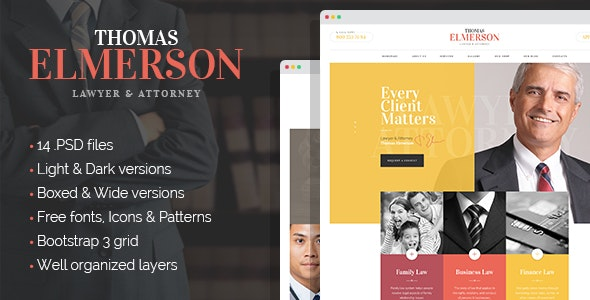 Lawyer & Attorney - corporate PSD template - Business Corporate