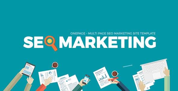 SEOMarkt | Responsive Flat SEO Marketing Onepage Multipage Site Template