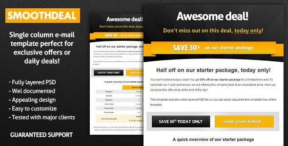 SmoothDeal E-Mail Template - Email Templates Marketing