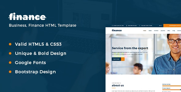 Finance - Consulting & Business - Corporate Site Templates