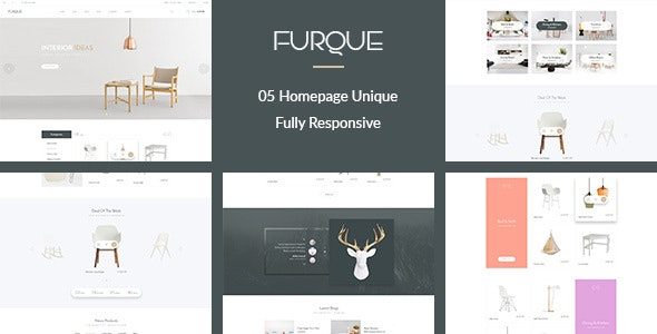 FURQUE - Creative Multiconcept Furniture Store PSD Template - Retail Photoshop