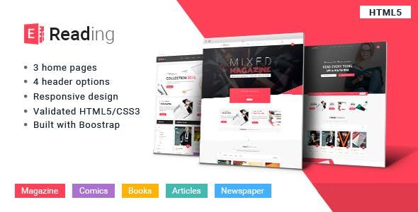 E-Reading Book Store HTML5 Theme