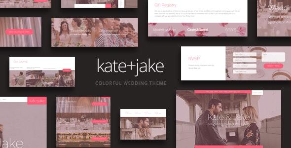 Kate + Jake - Lovely WordPress Wedding Theme - Wedding WordPress