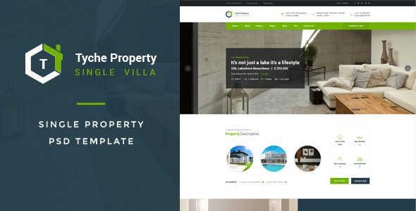 Tyche Properties : Single Property PSD Template - Business Corporate