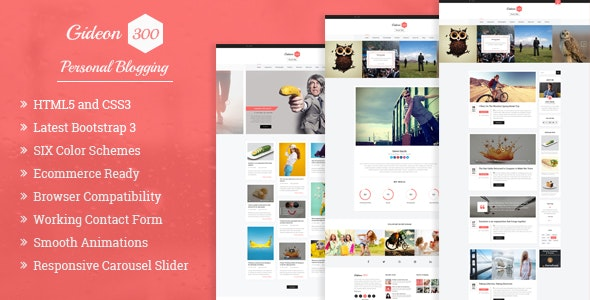 Gideon 300 - Personal Blog, LMS and eCommerce HTML Template - Personal Site Templates