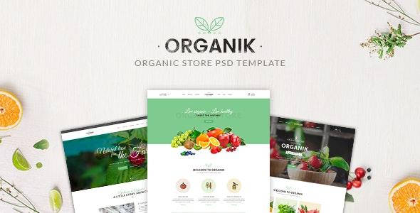 Organik - Organic store PSD Template - Food Retail