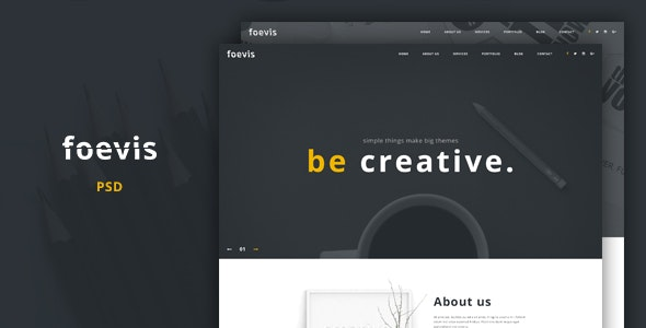 Foevis - Creative Agency PSD Template - Portfolio Creative
