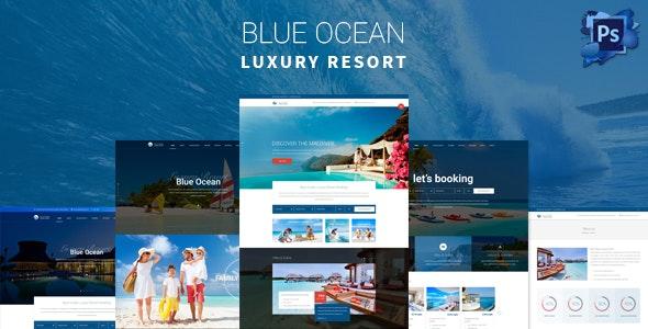 Blue Ocean - Resort & Hotel PSD Template - Travel Retail