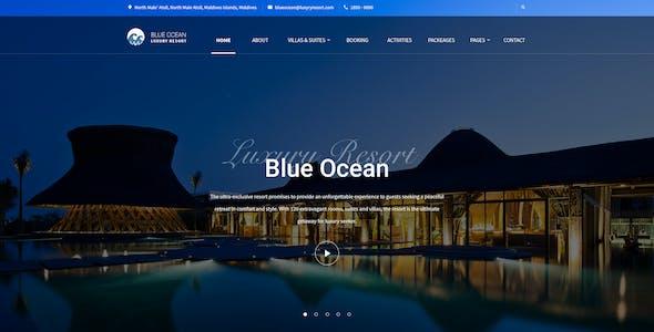 Blue Ocean - Resort & Hotel PSD Template