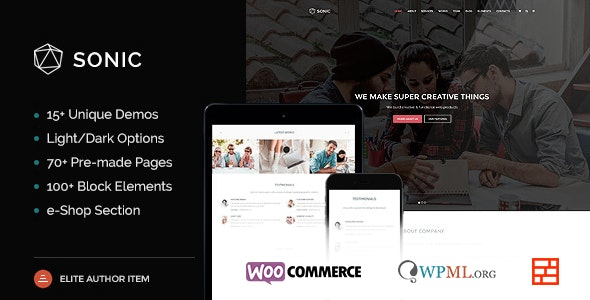 Sonic - Responsive & Multipurpose WordPress Theme - Business Corporate