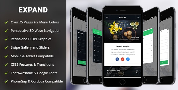 Expand Mobile - Mobile Site Templates