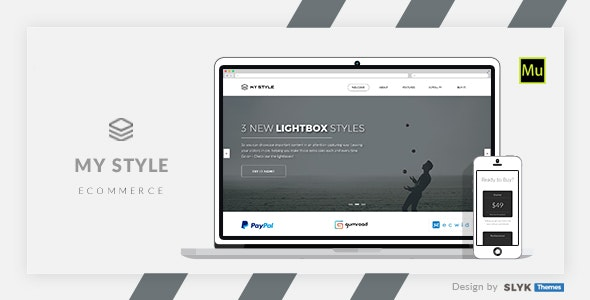 My Style - Multipurpose One Page Muse eCommerce Template - eCommerce Muse Templates
