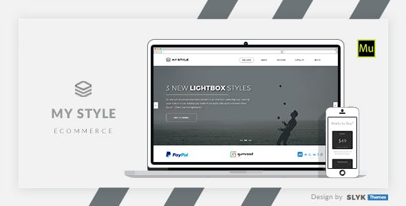 My Style - Multipurpose One Page Muse eCommerce Template
