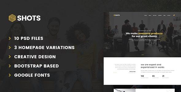 Shots – Multipurpose PSD Template - Business Corporate