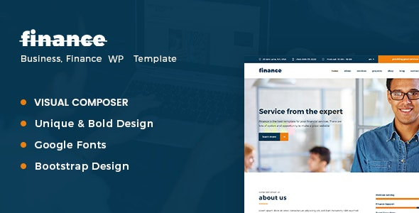 Finance – Consulting Business WordPress Theme - Business Corporate