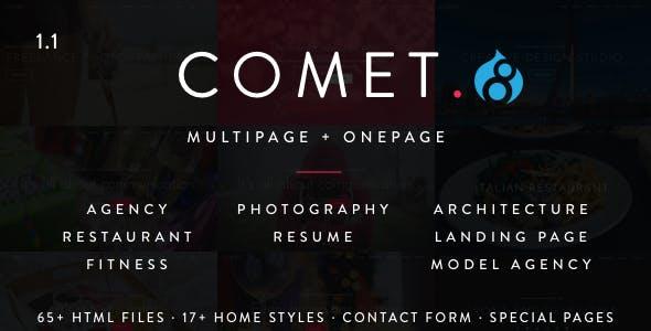 Comet - Creative Multi-Purpose Drupal 7 and 8 Theme