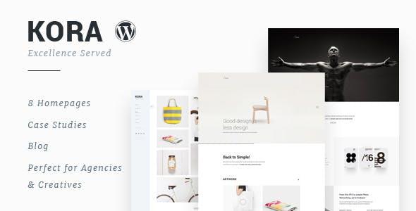 Kora - Portfolio, Agency WordPress Theme by M_Adnan