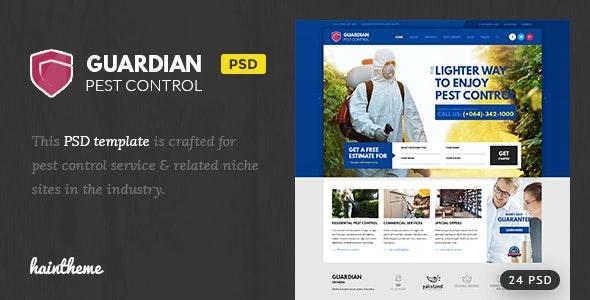Guardian - Pest Control PSD Template - Business Corporate