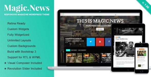 MagicNews - Responsive WordPress Magazine Theme - Blog / Magazine WordPress