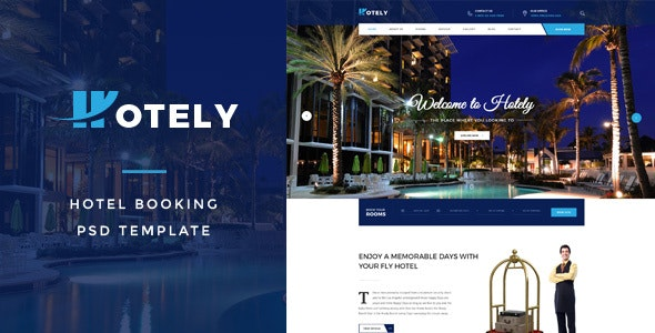 Hotely - Hotel Booking & Travel PSD Template - Travel Retail