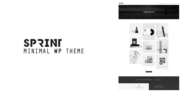 Sprint - Minimal WordPress Portfolio - Photography Creative