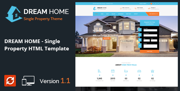 DREAM HOME- Single Property Real Estate HTML Template - Business Corporate