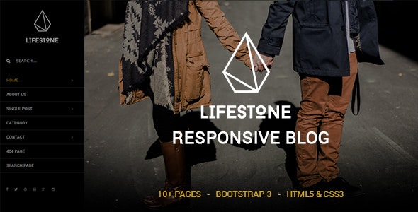 Lifestone - A Responsive Blog Template - Personal Site Templates