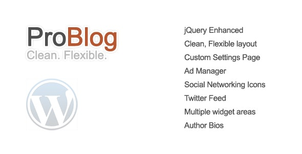 ProBlog - A Flexible WordPress Theme - Blog / Magazine WordPress