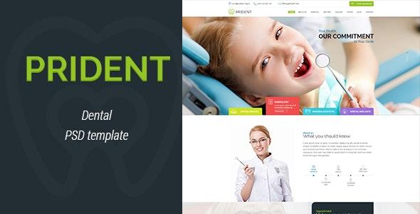 Prident - Dental PSD Template - Business Corporate