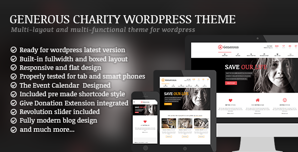 Generous - Charity / Non-Profit / Orphan / Fund-raising / Crowd-funding WordPress Theme - Charity Nonprofit