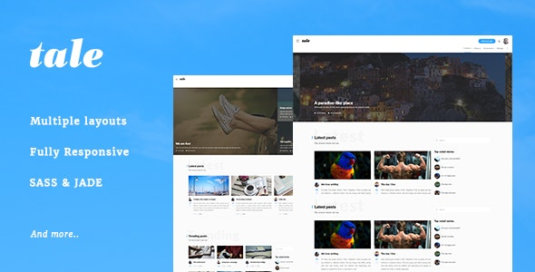 Tale - Strorytelling and Magazine Bootstrap Template by AndrewChs