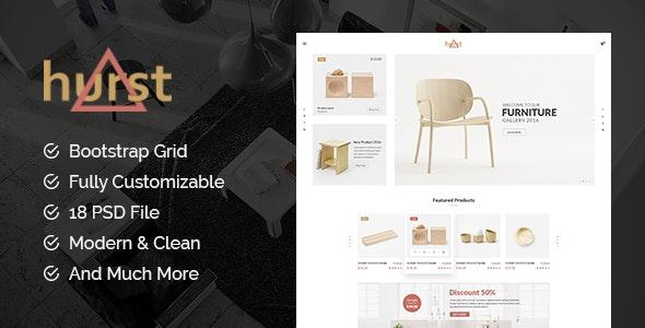 Hurst - eCommerce PSD Template - Shopping Retail