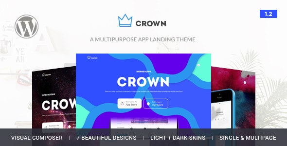 Crown - App Showcase Responsive Theme - Software Technology