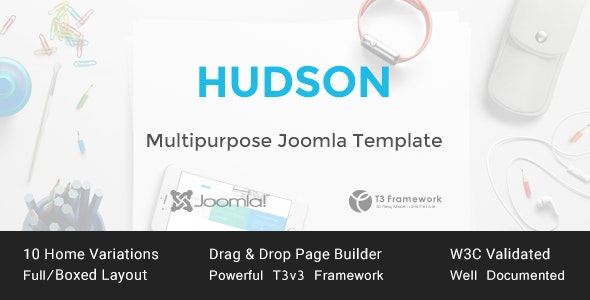 Hudson - Multipurpose Joomla Template - Business Corporate