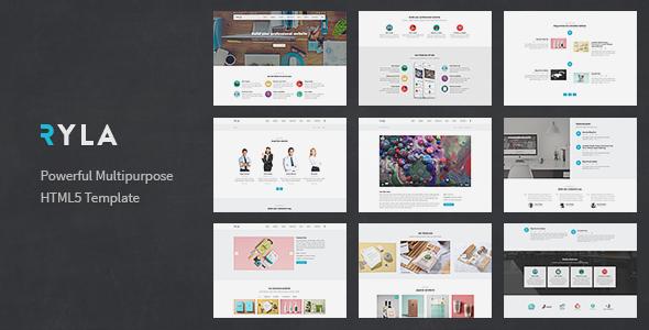 Ryla - Multipurpose Single/Multi Page Template - Corporate Site Templates