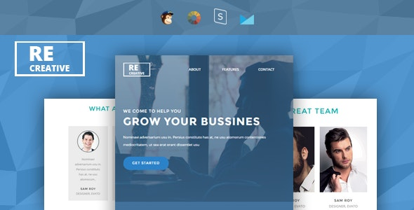 Recreative - Responsive Email + StampReady Builder - Newsletters Email Templates