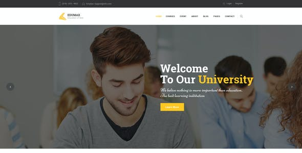 EduMax : Education & CoursesPSD Template
