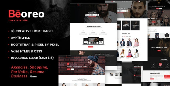 Beoreo - Creative MultiPurpose - Corporate Site Templates