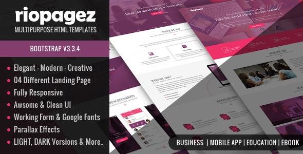 Rio Pagez Multipurpose Landing Pages - Marketing Corporate