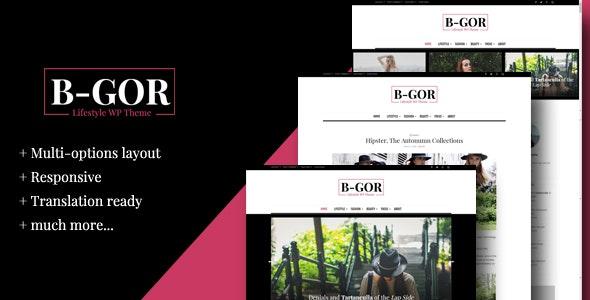 Bgor - A Lifestyle WordPress Theme - Blog / Magazine WordPress