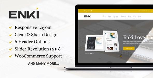 Enki ultimate corporate WordPress theme - Corporate WordPress