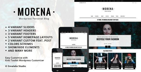 Morena - Clean Responsive WP Blog Theme - Personal Blog / Magazine